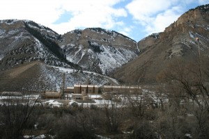 Gas processing plant along Parachute Creek in Garfield County